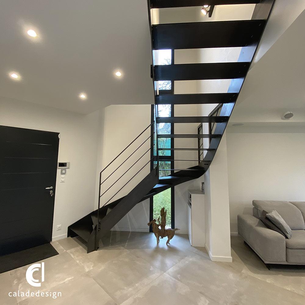 escalier-quart-tournant-métallique