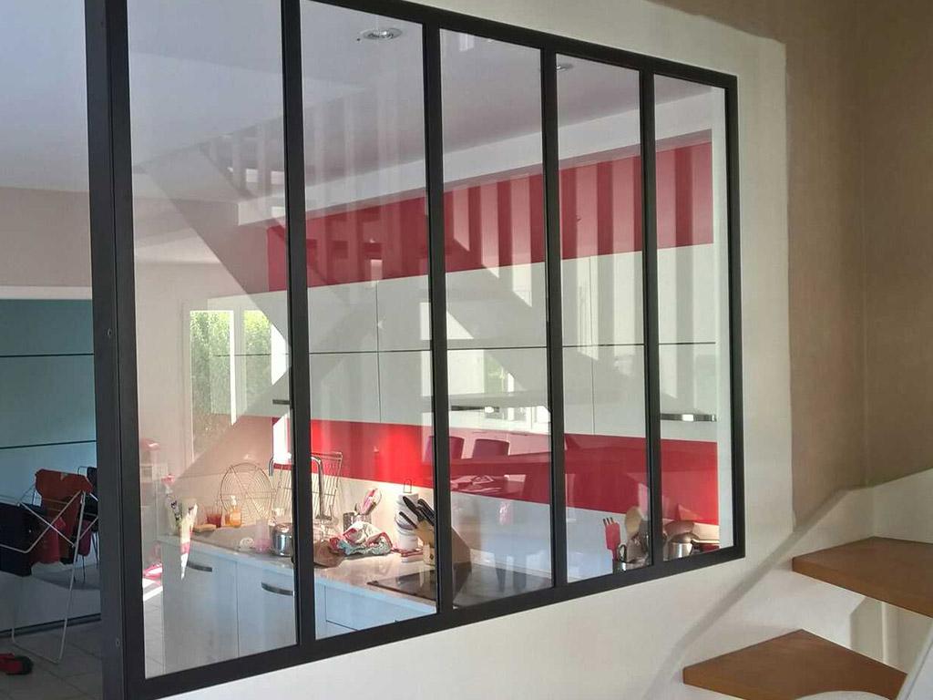 baie d 39 atelier acier peint lyon calade design. Black Bedroom Furniture Sets. Home Design Ideas