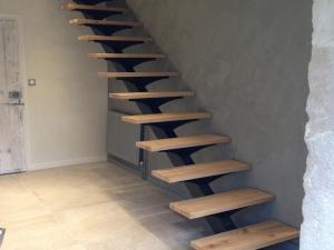 Escalier design métal bois lyon