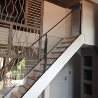 Rampe d'escalier en verre exterieur
