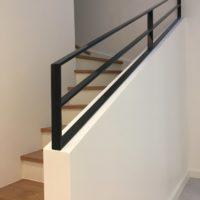 escalier droit bois et béton
