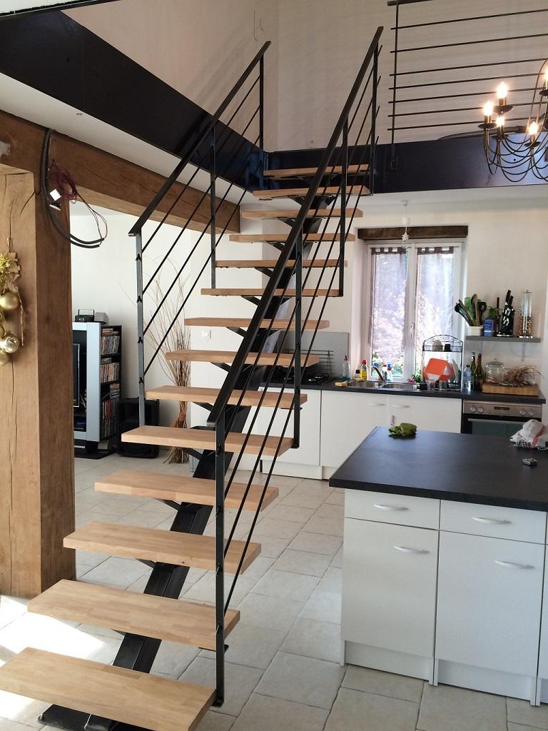 Escalier métallique Lyon, Escalier métal Villefranche | Calade Design