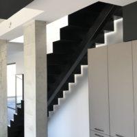 escalier droit en acier par calade design