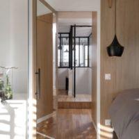 calade design porte chambre en chêne et acier