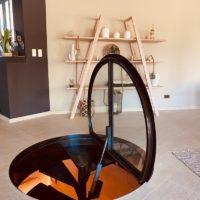 trappe au sol en verre calade design