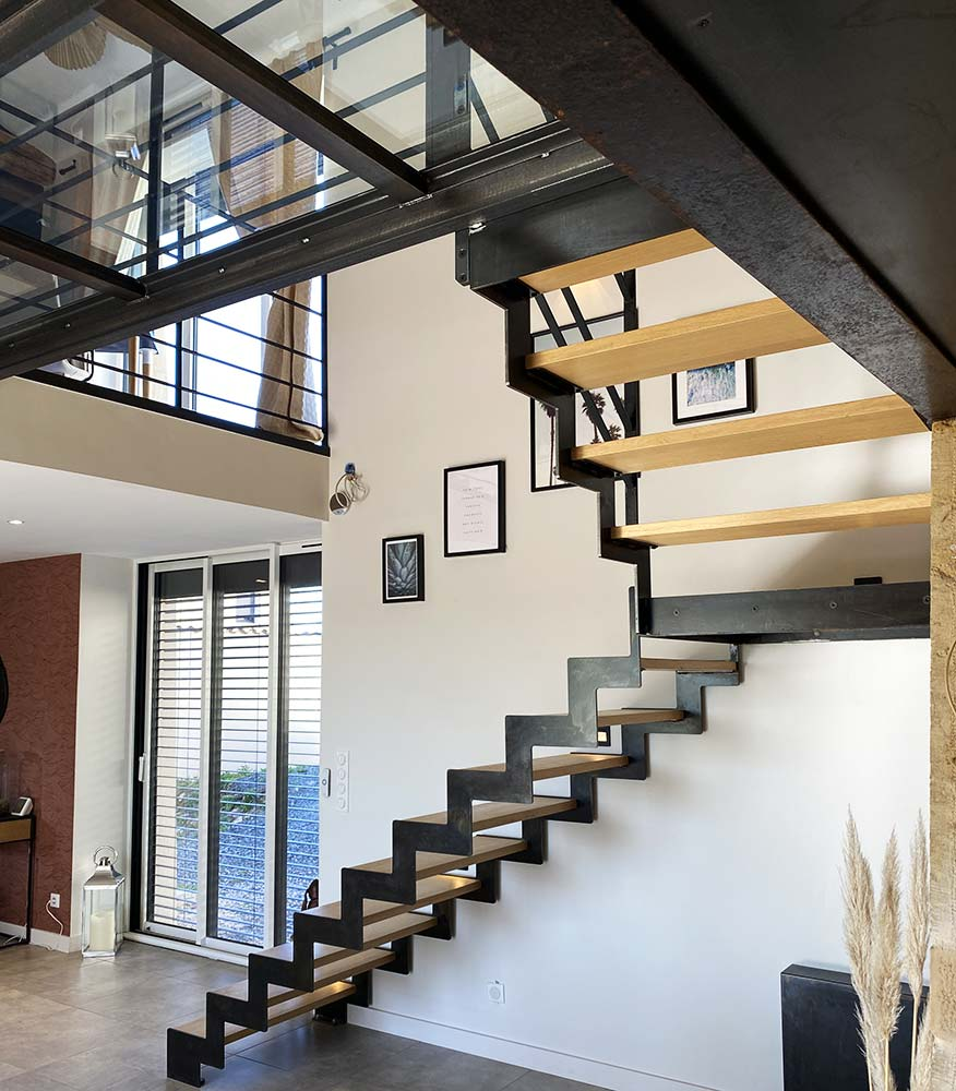 escalier-double-limon-cremaillere-passerelle