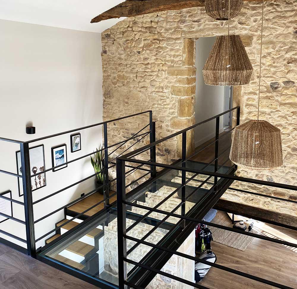 escalier-double-limon-cremaillere-vue-haut-passerelle