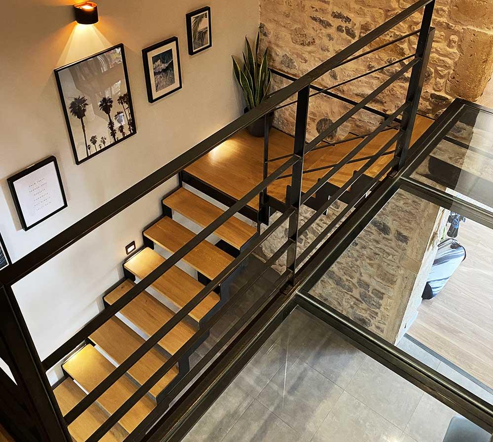 escalier-vue-haut-passerelle